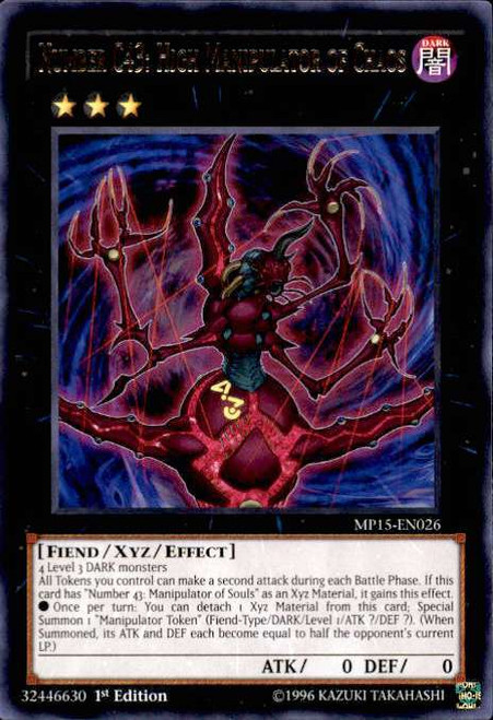 YuGiOh 2015 Mega-Tin Mega Pack Rare Number C43: High Manipulator of Chaos MP15-EN026