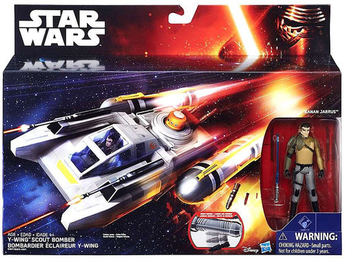 Star Wars Rebels Y-Wing Scout Bomber with Kanan Jarrus 3.75-Inch Deluxe Vehicle [Class I ]