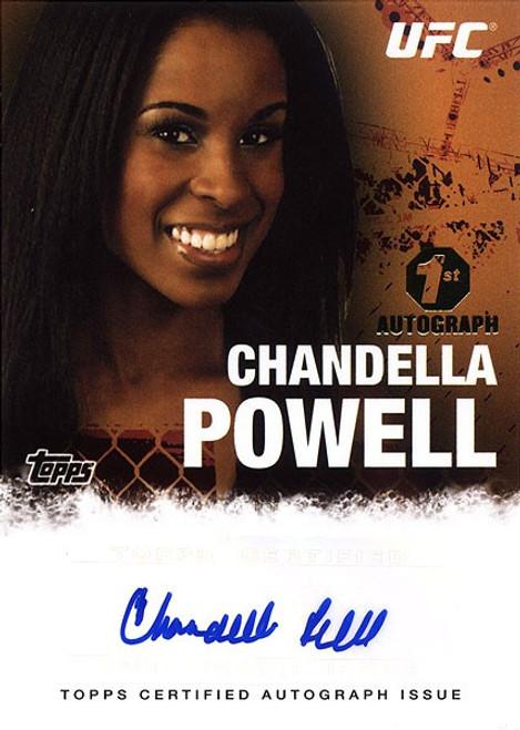 Topps UFC 2010 Championship Chandella Powell Autograph Card FA_CP