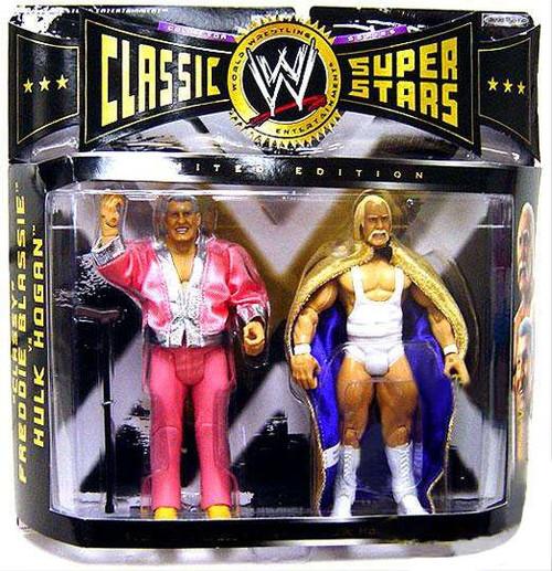 WWE Wrestling Classic Superstars Series 4 Classy Freddie Blassie & Hulk Hogan Exclusive Action Figure 2-Pack
