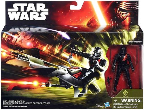 Star Wars The Force Awakens Elite Speeder Bike with Black Stormtrooper 3.75-Inch Vehicle & Figure [Class I]