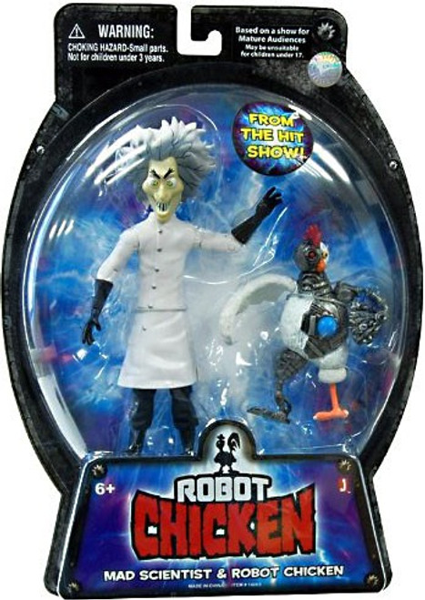 Mad Scientist & Robot Chicken Action Figure 2-Pack