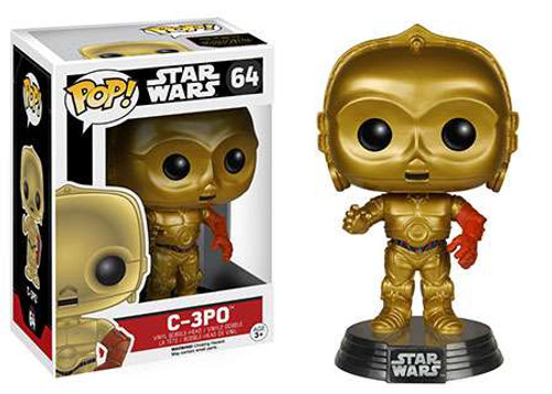 Funko The Force Awakens POP! Star Wars C-3PO Vinyl Bobble Head #64 [EP7]