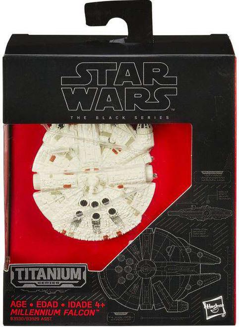 Star Wars The Force Awakens Black Titanium Millennium Falcon 2-Inch Diecast Vehicle