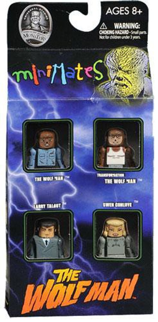 Universal Monsters MiniMates The Wolfman Minifigure 4-Pack