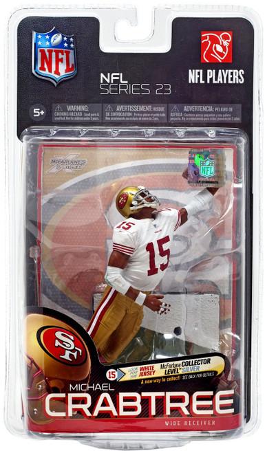 McFarlane Toys NFL San Francisco 49ers Sports Picks Series 23 Michael Crabtree Action Figure [White Jersey]