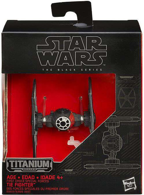 Star Wars The Force Awakens Black Titanium First Order Special Forces TIE Fighter 2-Inch Diecast Vehicle