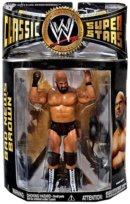 WWE Wrestling Classic Superstars Series 13 Bad News Brown Action Figure