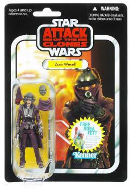 Star Wars Attack of the Clones 2011 Vintage Collection Zam Wesell Action Figure #30