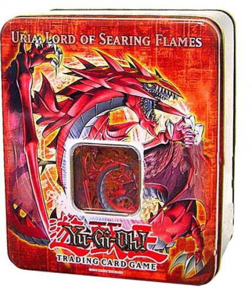 YuGiOh GX Trading Card Game 2006 Uria, Lord of Searing Flames Tin Set