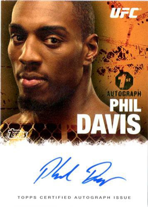 Topps UFC 2010 Championship Autograph Fighters & Personalities Phil Davis FA-PHD