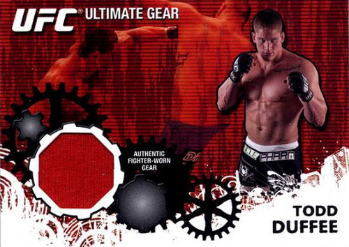 Topps UFC 2010 Championship Ultimate Gear Relic Todd Duffee UG-TD