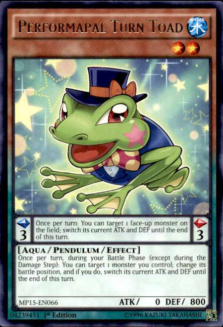 YuGiOh 2015 Mega-Tin Mega Pack Rare Performapal Turn Toad MP15-EN066