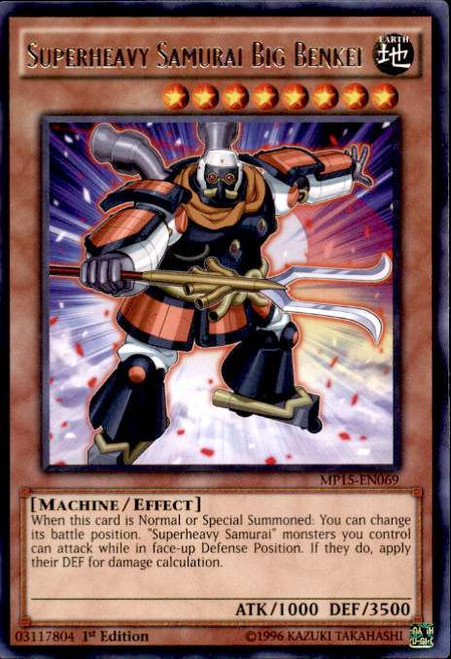 YuGiOh 2015 Mega-Tin Mega Pack Rare Superheavy Samurai Big Benkei MP15-EN069
