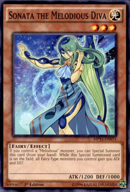 YuGiOh 2015 Mega-Tin Mega Pack Common Sonata the Melodious Diva MP15-EN071