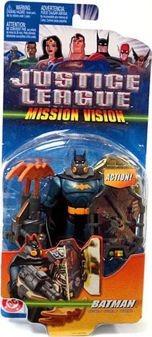 Justice League Mission Vision Batman Action Figure [Green & Black Armor]