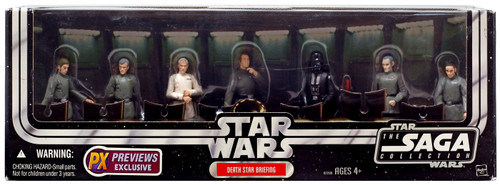 Star Wars A New Hope 2006 Saga Collection Death Star Briefing Exclusive Action Figure 7-Pack [Darth Vader, Tarkin, Admiral Motti, General Tagge, Chief Bast, Officer Cass & Colonel Wulff Yularen]
