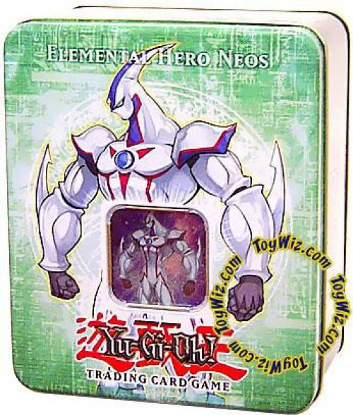 YuGiOh GX Trading Card Game 2006 Elemental Hero Neos Tin Set