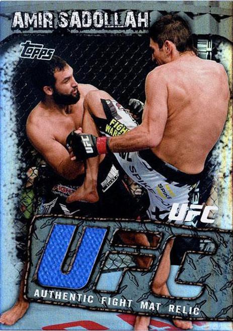 Topps UFC Round 3 Fight Mat Relic Amir Sadollah FMR-ASA