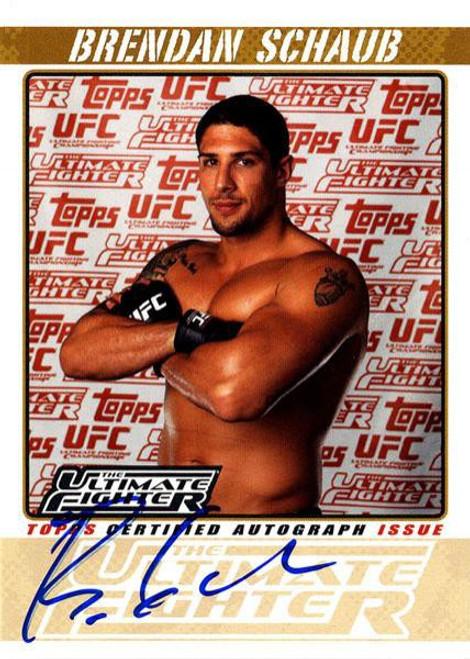 Topps UFC 2009 Round 2 Brendan Schaub Autograph Card TUF-BS