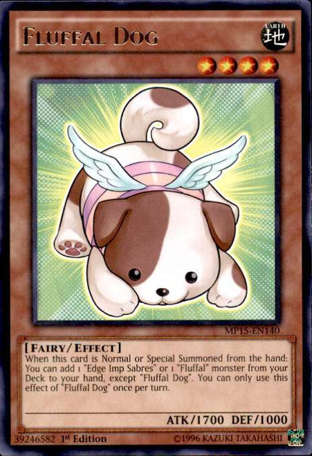YuGiOh 2015 Mega-Tin Mega Pack Rare Fluffal Dog MP15-EN140
