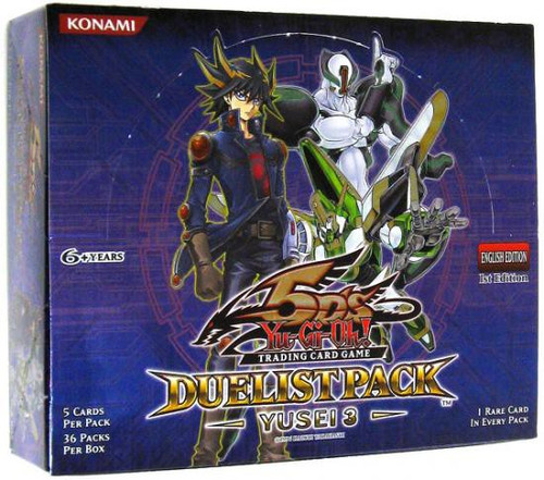 YuGiOh Trading Card Game Duelist Pack Yusei 3 Booster Box [36 Packs]