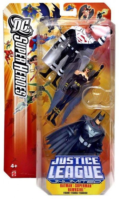 DC Super Heroes Batman, Superman & Hawkgirl Action Figure 3-Pack [Justice Lords]