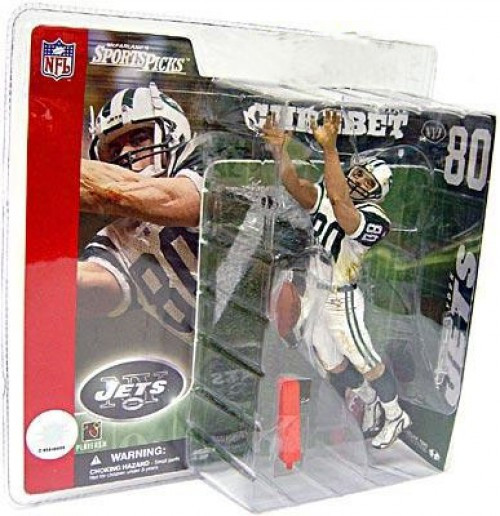 McFarlane Toys NFL New York Jets Sports Picks Series 2 Wayne Chrebet Action Figure [White Jersey, Wearing Helmet]