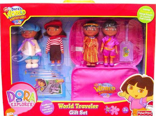 Fisher Price Dora the Explorer Dora's World Adventure World Traveler Gift Set