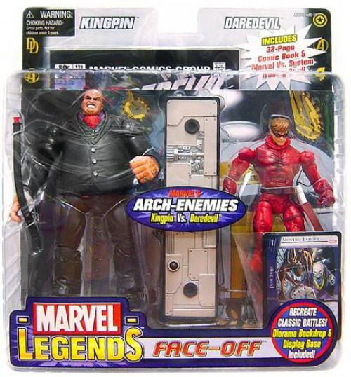 Marvel Legends Face Off Series 1 Kingpin vs. Daredevil Action Figure 2-Pack [Unmasked Variant]