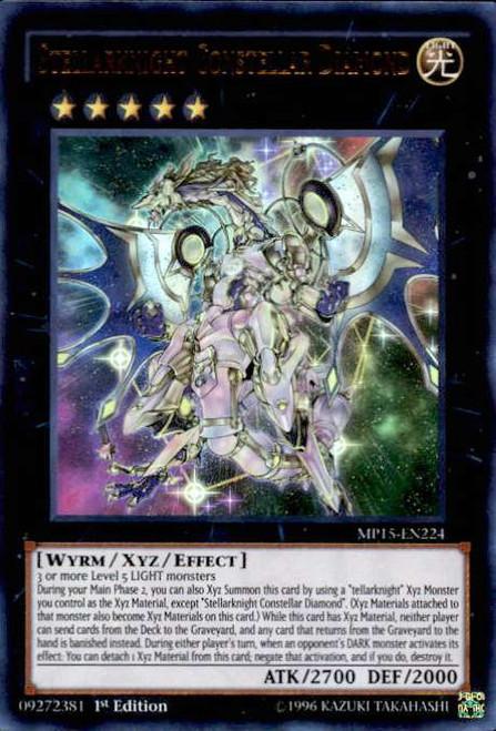 YuGiOh 2015 Mega-Tin Mega Pack Ultra Rare Stellarknight Constellar Diamond MP15-EN224