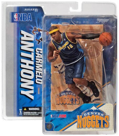 McFarlane Toys NBA Denver Nuggets Sports Picks Series 11 Carmelo Anthony Action Figure [Dark Blue Jersey Variant]