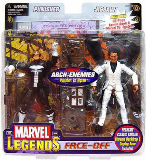 Marvel Legends Face Off Series 2 Punisher vs. Jigsaw Action Figure 2-Pack [Thin Skull Variant]