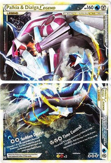 Pokemon HeartGold & Soulsilver Triumphant Ultra Rare Palkia & Dialga LEGEND #101 & 102