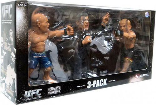 UFC Ultimate Collector Versus Chuck Liddell vs. Tito Ortiz with Bruce Buffer Exclusive Action Figure 3-Pack