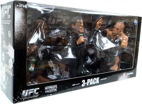 UFC Ultimate Collector Versus Quinton Jackson vs. Wanderlei Silva with Bruce Buffer [Red Tie] Exclusive Action Figure 3-Pack