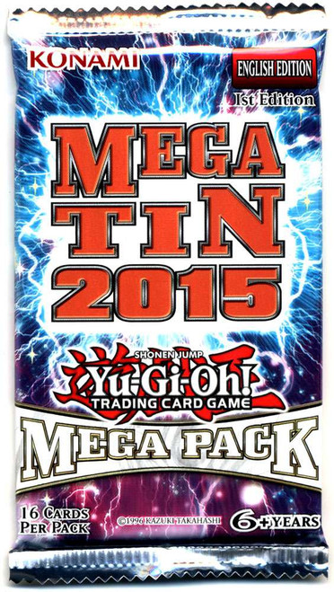 YuGiOh Trading Card Game 2015 Mega Tin Mega Booster Pack