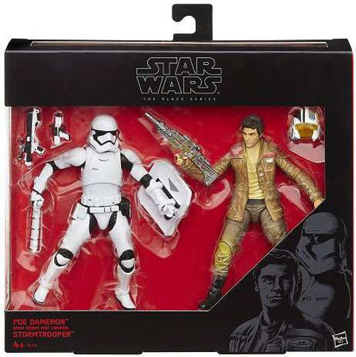 Star Wars The Force Awakens Black Series Poe Dameron & Riot Control Stormtrooper Action Figure 2-Pack