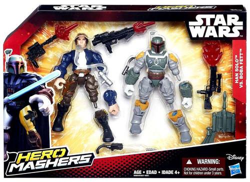 Star Wars The Force Awakens Hero Mashers Han Solo vs. Boba Fett Action Figure 2-Pack