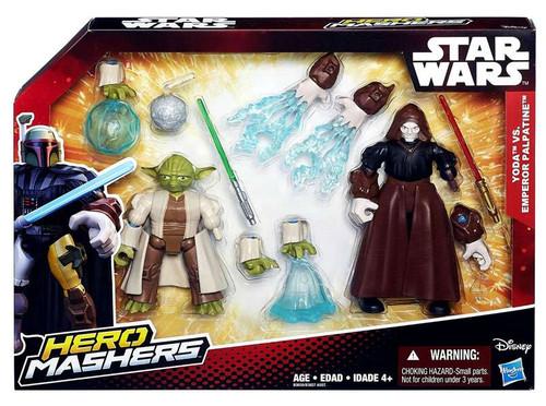 Star Wars The Force Awakens Hero Mashers Yoda vs Emperor Palpatine Action Figure 2-Pack