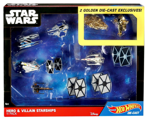 Star Wars The Force Awakens Hot Wheels Hero & Villain Starships Exclusive 3-Inch Diecast Car