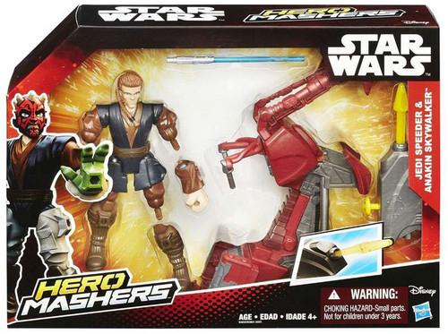 Star Wars The Force Awakens Hero Mashers Jedi Speeder & Anakin Skywalker 6-Inch Vehicle & Figure