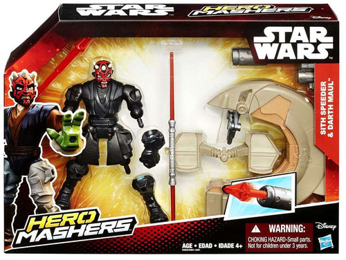 Star Wars The Force Awakens Hero Mashers Sith Speeder & Darth Maul 6-Inch Vehicle & Figure