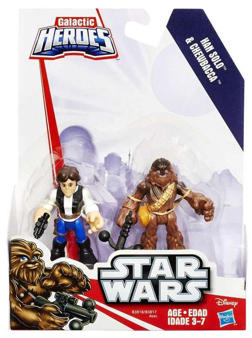 Star Wars Galactic Heroes Han Solo & Chewbacca Mini Figure 2-Pack