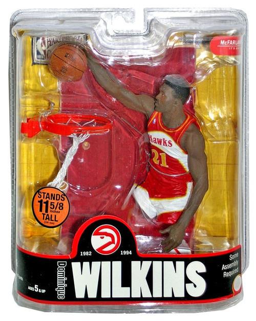 McFarlane Toys NBA Atlanta Hawks Sports Picks Legends Series 3 Dominique Wilkins Action Figure [Red Jersey]