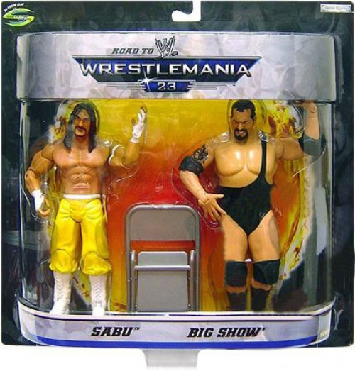 WWE Wrestling Road to WrestleMania 23 Series 1 Sabu Vs. Big Show Exclusive Action Figure 2-Pack