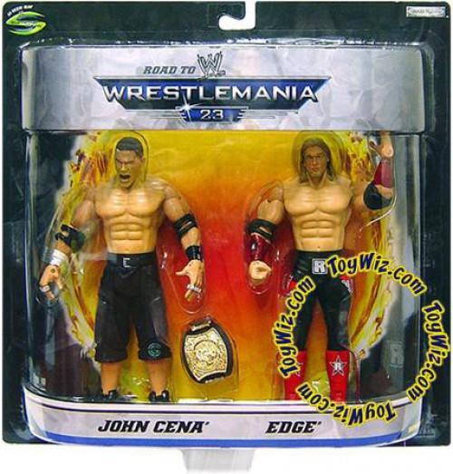 WWE Wrestling Road to WrestleMania 23 Series 1 John Cena Vs. Edge Exclusive Action Figure 2-Pack