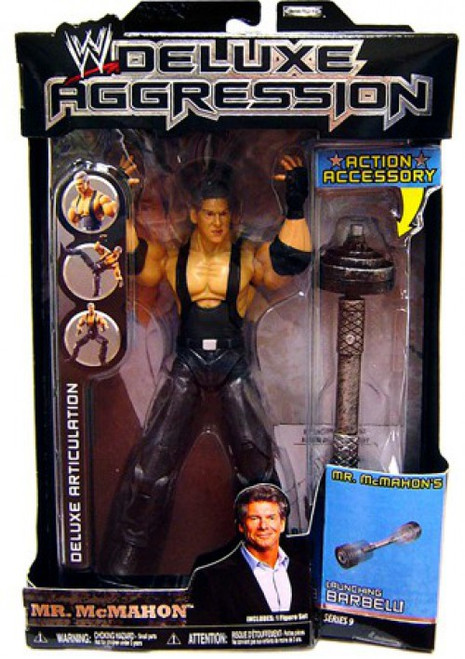 WWE Wrestling Deluxe Aggression Series 9 Mr. McMahon Action Figure