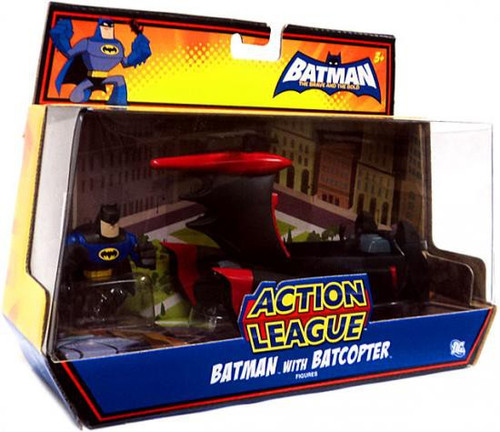 The Brave and the Bold Action League Batman with Batcopter Mini Figure Set