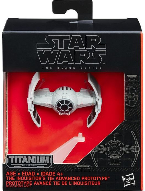Star Wars The Force Awakens Black Titanium Inquisitor's TIE Advanced 2-Inch Diecast Vehicle